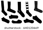 set of different socks isolated ... | Shutterstock .eps vector #640120669