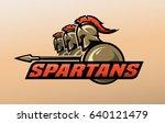 spartan warriors. logo  symbol. | Shutterstock .eps vector #640121479