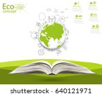 environmentally friendly world. ... | Shutterstock . vector #640121971