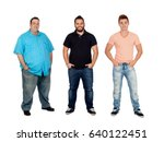 three men with different... | Shutterstock . vector #640122451
