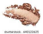 bronze eye shadow stroke... | Shutterstock . vector #640122625