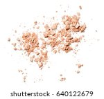 crushed face powder isolated on ... | Shutterstock . vector #640122679