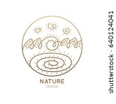 vector logo of nature elements... | Shutterstock .eps vector #640124041