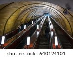 moscow   may 11  people go on... | Shutterstock . vector #640124101