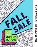 flat design sale website banner ... | Shutterstock .eps vector #640126171