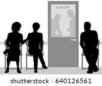 editable vector silhouettes of... | Shutterstock .eps vector #640126561