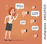 sad unhappy unsuccessful... | Shutterstock .eps vector #640129315