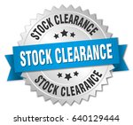stock clearance round isolated... | Shutterstock .eps vector #640129444