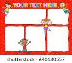 vector brochure backgrounds... | Shutterstock .eps vector #640130557