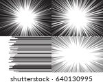four templates for comic... | Shutterstock .eps vector #640130995