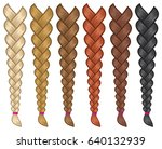 hair braids set vector...