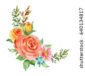 painted watercolor composition...   Shutterstock . vector #640134817
