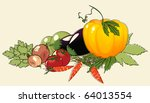 illustration with bunch of... | Shutterstock . vector #64013554