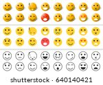 set of emoticons icons... | Shutterstock .eps vector #640140421