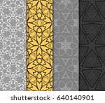 set of 4 vertical e seamless... | Shutterstock .eps vector #640140901