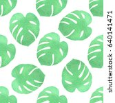 tropical seamless pattern with... | Shutterstock .eps vector #640141471