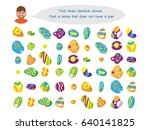task for children  find 3... | Shutterstock .eps vector #640141825