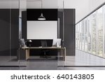 front view of a ceo office... | Shutterstock . vector #640143805