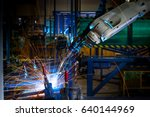 close up welding robots working ... | Shutterstock . vector #640144969
