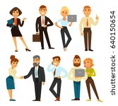 business people while working... | Shutterstock .eps vector #640150654