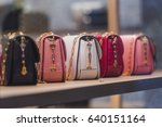 Woman purses in a store in...
