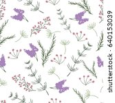 painted floral seamless pattern | Shutterstock .eps vector #640153039