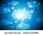 technology web communication ... | Shutterstock .eps vector #640153489