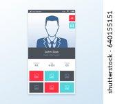 personal profile ui app design  ...