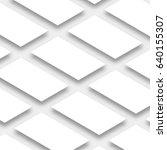 white empty rectangles ... | Shutterstock .eps vector #640155307