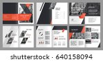 design annual report  cover ... | Shutterstock .eps vector #640158094