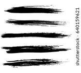 ink vector brush strokes set.... | Shutterstock .eps vector #640159621