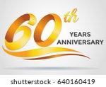 anniversary emblems 60... | Shutterstock .eps vector #640160419