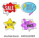 sale labels. isolated set... | Shutterstock .eps vector #640163485