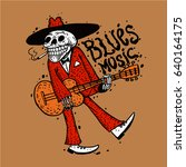 Funny Skeleton Playing Guitar...