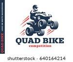 quad bike competition. logo... | Shutterstock . vector #640164214