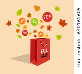 special fall offer sale... | Shutterstock .eps vector #640165609