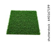 square of green grass field on... | Shutterstock . vector #640167199