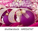 Christmas. Balls with decoration - stock photo