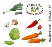 vector vegetable element of... | Shutterstock .eps vector #640168459