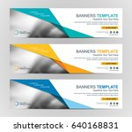 abstract web banner design... | Shutterstock .eps vector #640168831