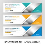 abstract web banner design... | Shutterstock .eps vector #640168834