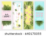 summer sale banners wallpaper ... | Shutterstock .eps vector #640170355
