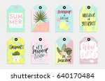 summer set of sale and gift... | Shutterstock .eps vector #640170484