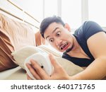 Funny Face Asian Man Shocked A...
