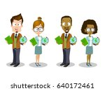 set of different male and... | Shutterstock .eps vector #640172461