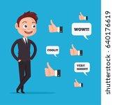 happy smiling businessman... | Shutterstock .eps vector #640176619