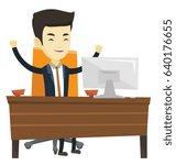 asian successful business man... | Shutterstock .eps vector #640176655
