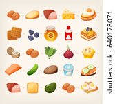 set of colorful products and... | Shutterstock .eps vector #640178071
