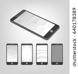 set of white and gray vector...