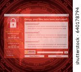 malware ransomware wannacry... | Shutterstock .eps vector #640178794